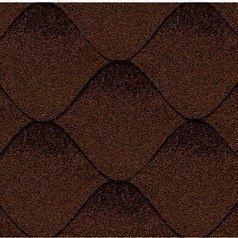 Битумная черепица Kerabit S Волна коричнево-черная