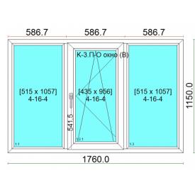 Окно WDS Classic 1760х1150 см