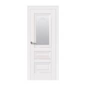 Двері міжкімнатні Новий Стиль ЕЛЕГАНТ  Статус зі склом і малюнком 600х2000 мм білий матовий