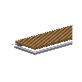 Комплект S рамка з дерев'яною решіткою для конвекторів Carrera 4S2 Black 120 295.2250.
