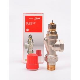 Клапан осьової Danfoss RA-N 15 для двотрубної системи опалення нікель 013G0153