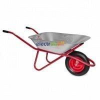 Тачка садово-строительная WB-0615 Intertool 65 л 150 кг 1 пневмоколесо с подшипником 14 дюйма 3,50 - 8