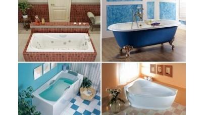 Какую ванну выбрать: чугунную, акриловую, стальную, из литого камня