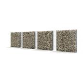 Забор из камня - габионов Vision Прогресс-2 широкий с узким габионом и решеткой 202 см