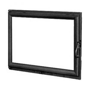 Дверка для каміна KAWMET W11 з прямим склом 680х530 мм