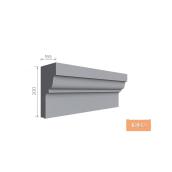 Карниз фасадний Тимис 2000x200x165 мм из армированого пенопласта арт 00192