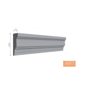 Карниз фасадный Тимис 2000x200x70 мм из армированного пенопласта арт 00172