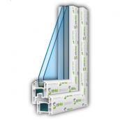 Металлопластиковое энергосберегающее окно из профиля Steko R 600 1300x1400 мм белое