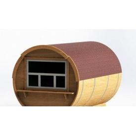 Торговый киоск-бочка Промконтракт деревянный 2,4х2,4 м