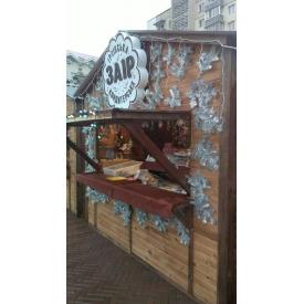 Торговый киоск Промконтракт деревянный 3х2 м каштан