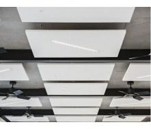 Підвісний акустичний стеля AMF TOPIQ Sonic Element квадратний 1200х1200х40 мм білий