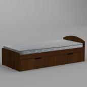 Ліжко Компанит 90+2 944х650х2042 мм горіх