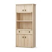 Шафа книжкова Мебель-Сервіс Валенсія 4Д1Ш 2086х910х445 мм самоа