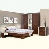 Спальня Мир мебели Элегия 3Д лимба шоколад/клен