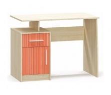 Детский стол Мебель-Сервис Симба 750х1000х550 мм береза/красный