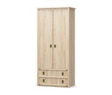 Шкаф Мебель-Сервис Валенсия 2Д2Ш 2086х910х520 мм самоа