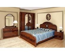 Спальня Мир мебели Лаура 6Д орех лак