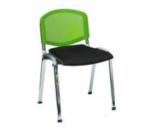 Офісний стілець АМF Ізо Веб 535х560х840 мм лак білий, сидіння Лаки чорний / спинка сітка салатова