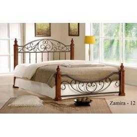 Кровать ONDER MEBLI Zamira-12 1800х2000 мм античное золото/орех