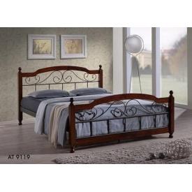 Кровать ONDER MEBLI АТ-9119 1600х2000 мм черный/вишня