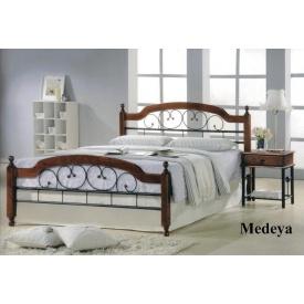 Кровать ONDER MEBLI Medeya N 1600х2000 мм античное золото/орех