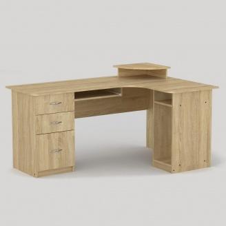 Компьютерный стол Компанит СУ-3 1600х1100х756 мм дуб сонома