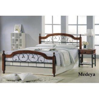 Ліжко ONDER MEBLI Medeya N 1600х2000 мм античне золото/горіх