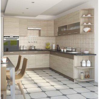 Кухня СОКМЕ Алина 2,6 м без столешницы дуб сонома/мокка