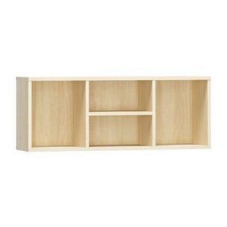 Полка навесная Мебель-Сервис Симба 352х920х225 мм береза/красный