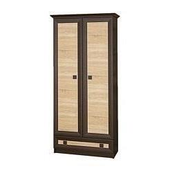 Шкаф Мебель-Сервис Тристан 900х2081х527 мм венге темный/дуб самоа