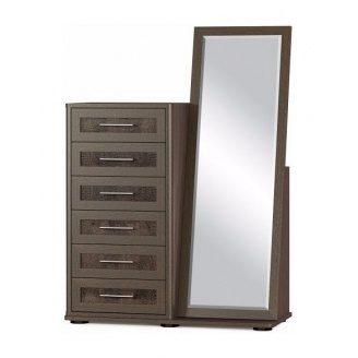 Комод Мебель-Сервис Токио 6Ш с зеркалом 1165х1610х475 мм венге