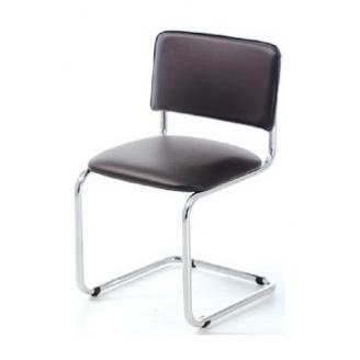 Офисный стул АМF Сильвия Кожзам черный 570х470х870 мм хром