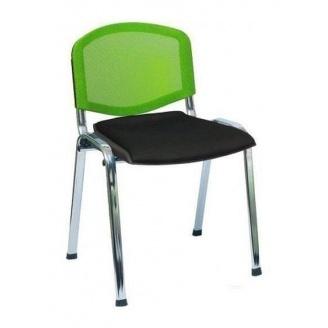 Офисный стул АМF Изо Веб 535х560х840 мм лак белый, сиденье Лаки черный/спинка сетка салатовая