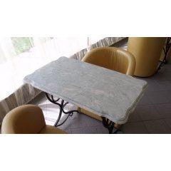 Кухонные барные столы из литого камня мрамора