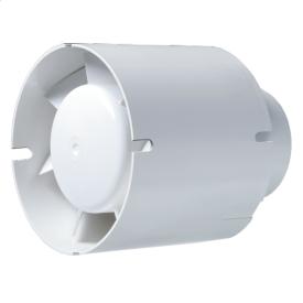 Вентилятор Blauberg Tubo 125 осьовий канальний 195 м3/год 123 мм білий
