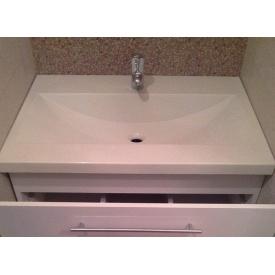 Стільниця індивідуальна у ванну кімнату суцільнолита з чашею Палермо 540х250 мм 120 мм