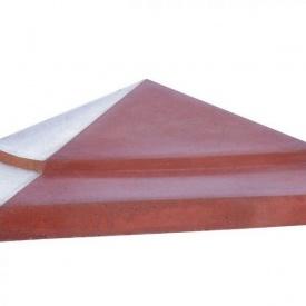 Бетонный колпак на столб МикаБет Елка 45х45 см серый
