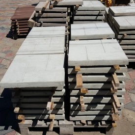 Бетонна плитка для доріжок МікаБет Каліфорнія 50х50 см сірий