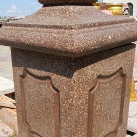 Бетонный колонный блок МикаБет Тумба с мраморной крошки 40х40х50 см