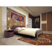 Деревянная кровать ТИС Новая 1 дуб 140х200