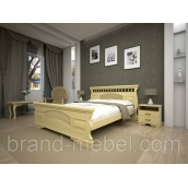 Деревянная кровать ТИС Атлант 23 дуб 120х200