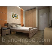 Деревянная кровать ТИС Атлант 2 дуб 90х200