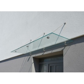 Козырек стеклянный Студия закаленного стекла 2000x1000 мм прозрачный