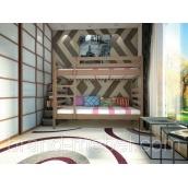 Дитяча двоярусна дерев'яна ліжко ТИС Трансформер 1 дуб 80х190