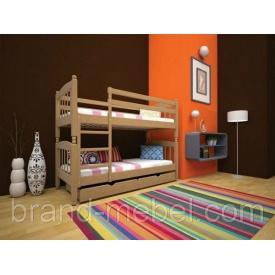 Детская двухъярусная деревянная кровать ТИС Трансформер 3 дуб 80х190