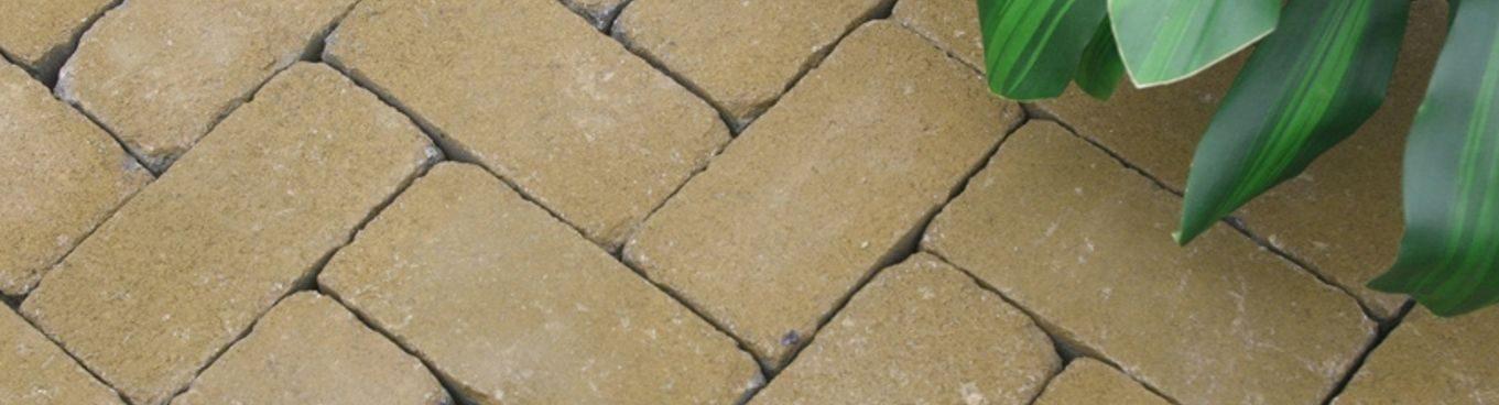 -5% на тротуарную плитку Золотой Мандарин Кирпич Антик 200х100х60 мм в горчичном цвете