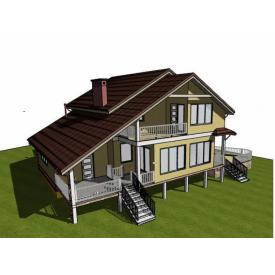 Проект двоповерхового будинку М2-115 214 м2