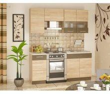 Кухня Меблі-Сервіс Грета 1,8 м дуб санома