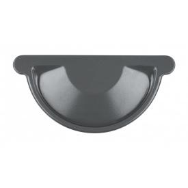 Заглушка жолоба Акведук Преміум 150 мм графітовий RAL 7011