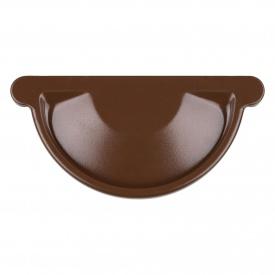 Заглушка жолоба Акведук Преміум 150 мм коричневий RAL 8017